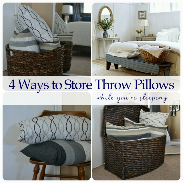 How To Store Bed Throw Pillows