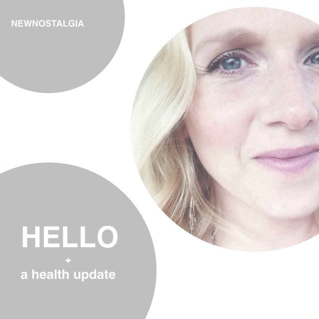 Hello & Health Update