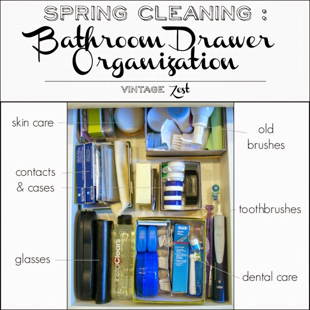 Spring Cleaning - Bathroom Drawer Organization 1