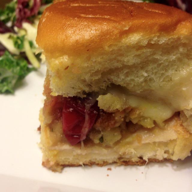 turkey cranberry stuffing sliders