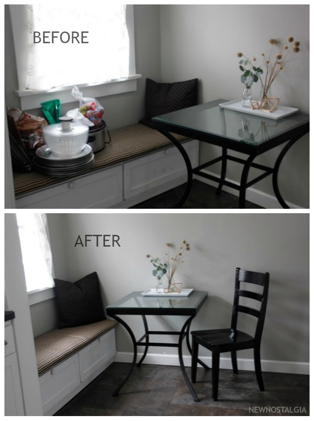 Before & After; Putting out hot spots and organization in my kitchen