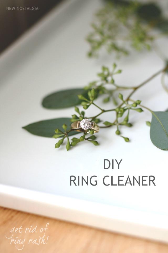 Diy Ring Cleaner Avoid Ring Finger Rash