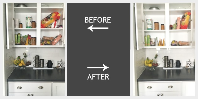 clean pantry before and after