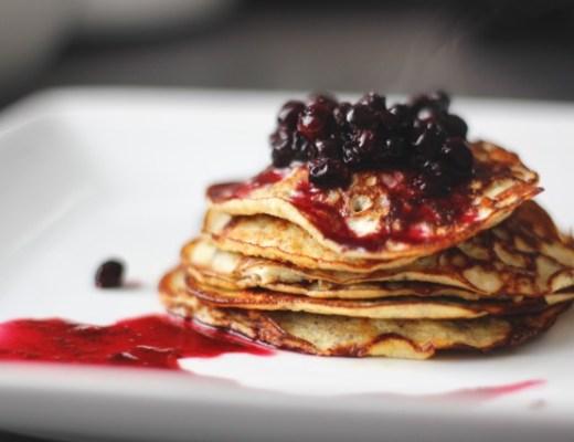 3 Ingredient Protein Pancakes