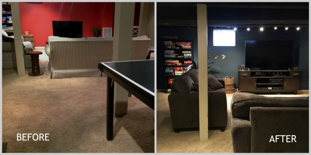 family basement before and afte3r