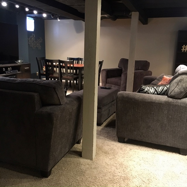 Family Basement Makeover Paid For With Credit Card Points