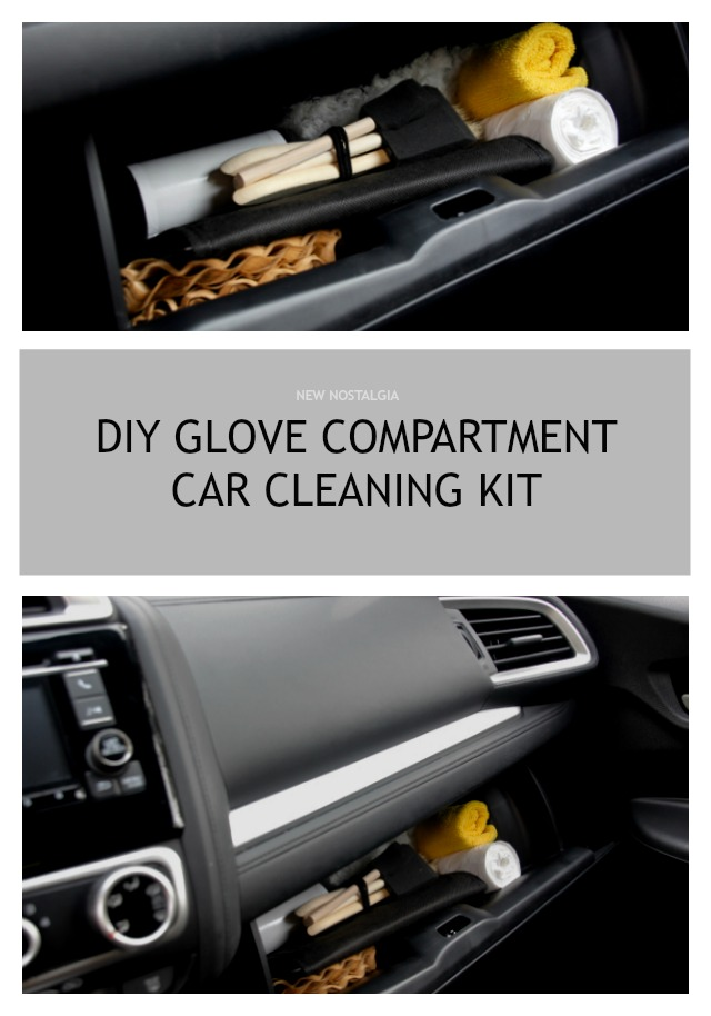 DIY Glove Compartment Car Cleaning Kit