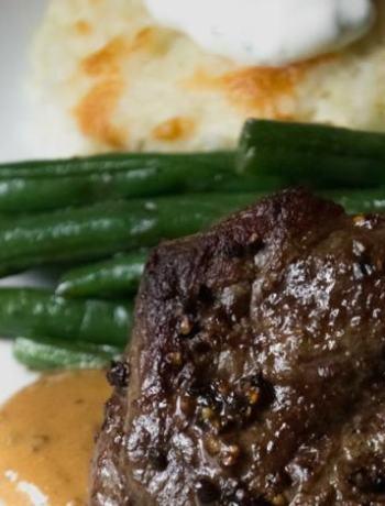 Steak au Poivre Meal