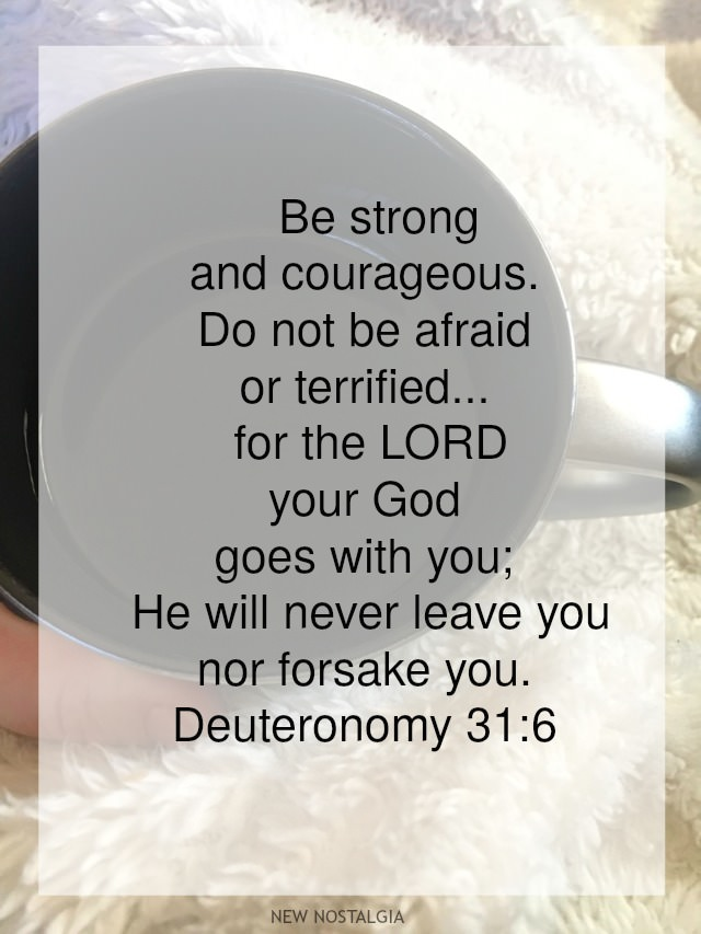 Deuteronomy 31:6 scripture verse