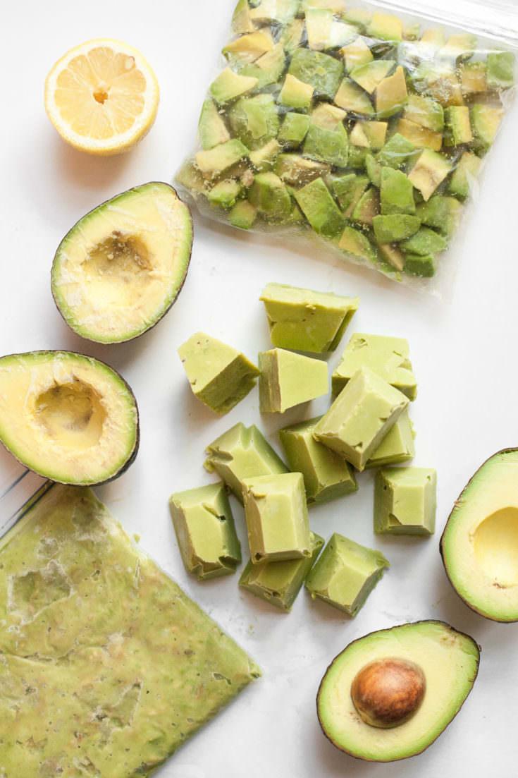 4 ways to freeze avocados