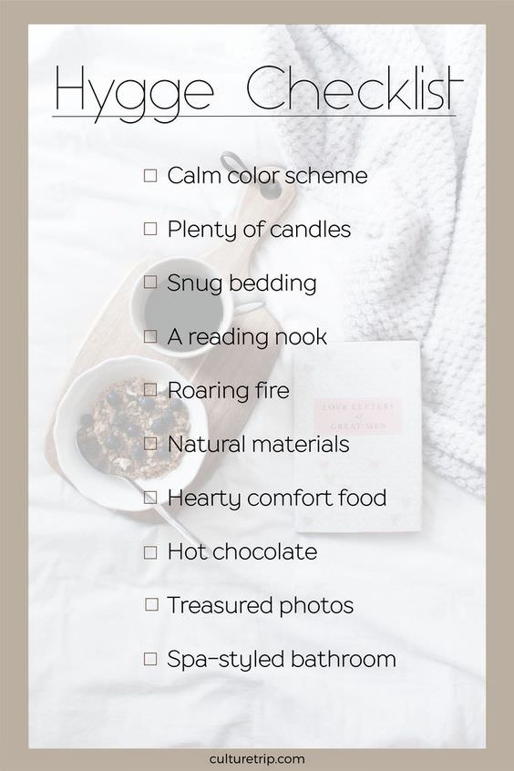 Hygge Checklist