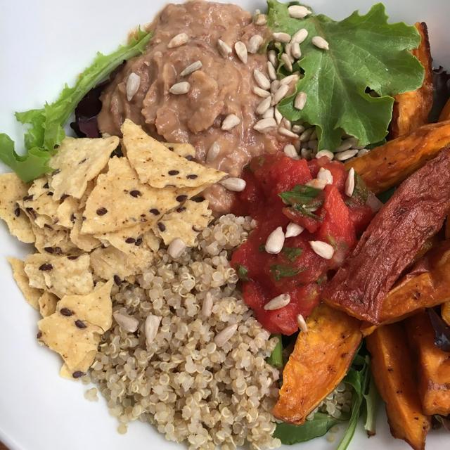 Vegetarian Lunch Bowl Sweet Potato Fries