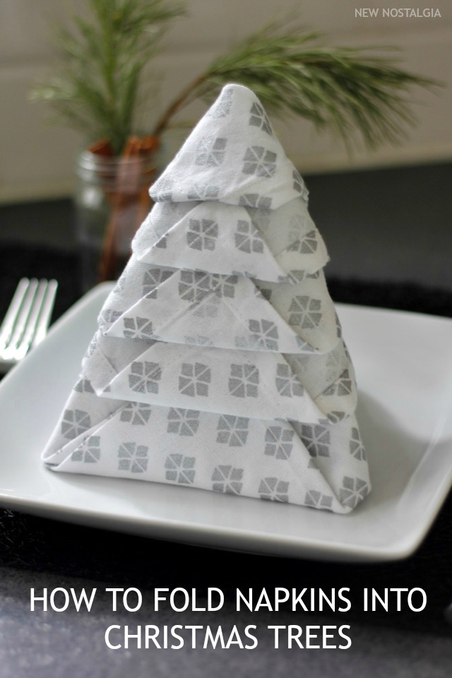 how to fold napkins into christmas trees tips to keep holiday gatherings simple