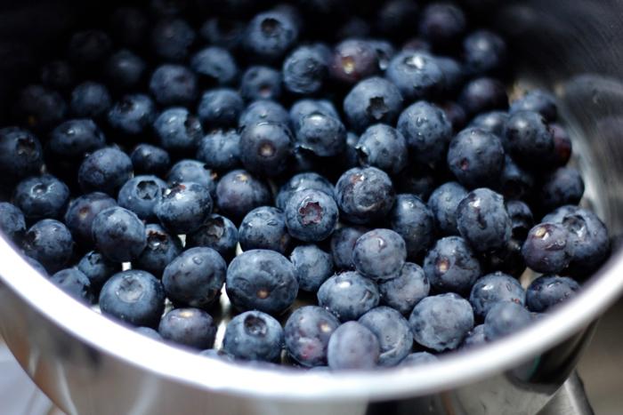 pan of blueberries
