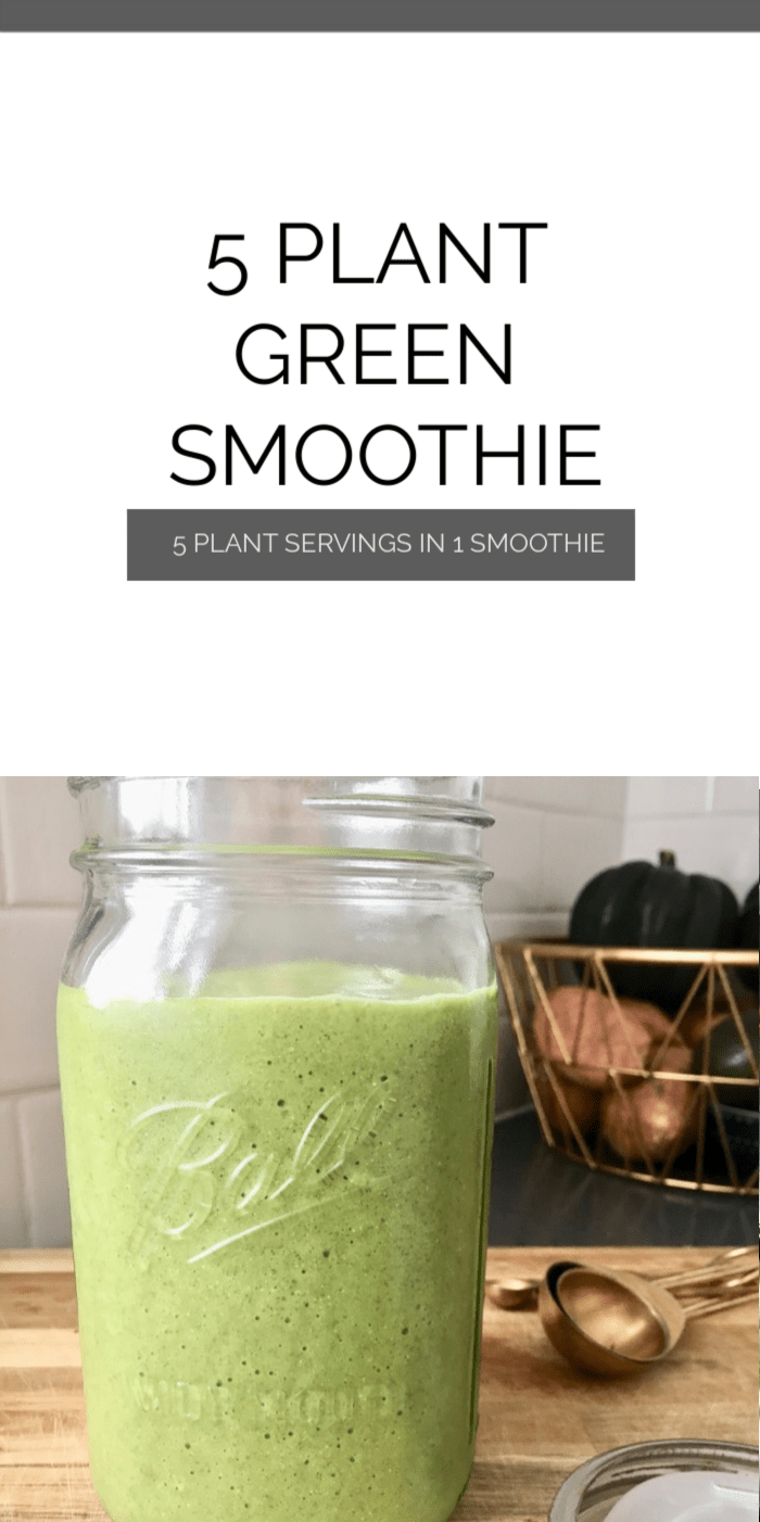 green smoothie jar