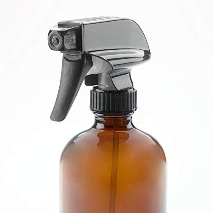 glass amber spray bottle
