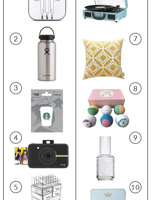 gift idea list for teen girls