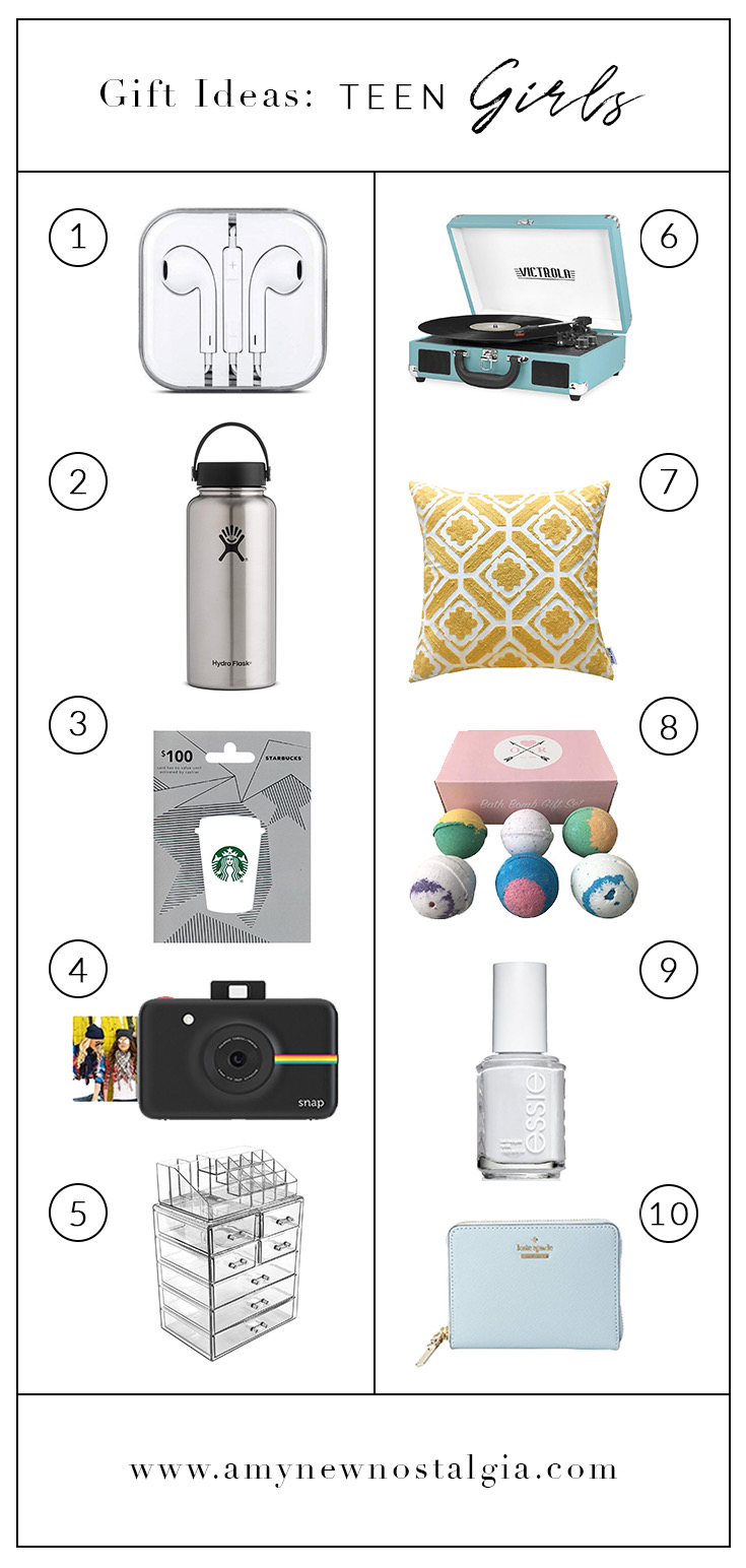 gift idea list for teen girls