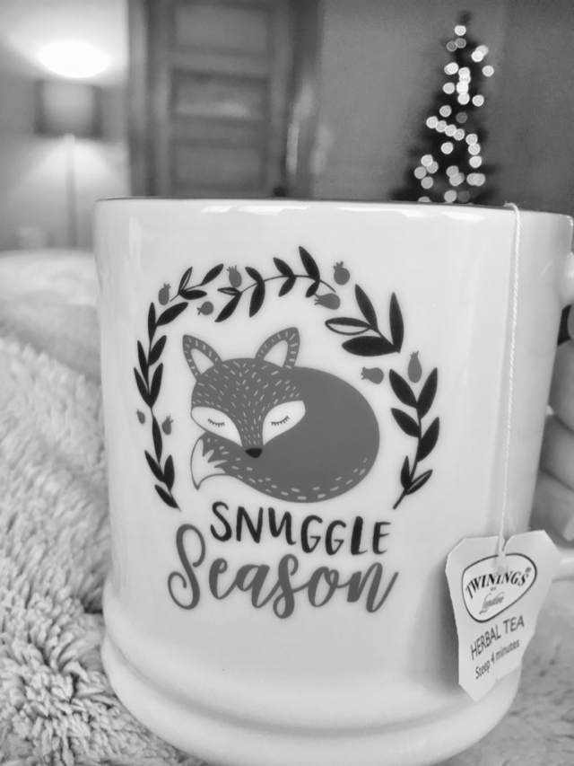 snuggle mug of tea