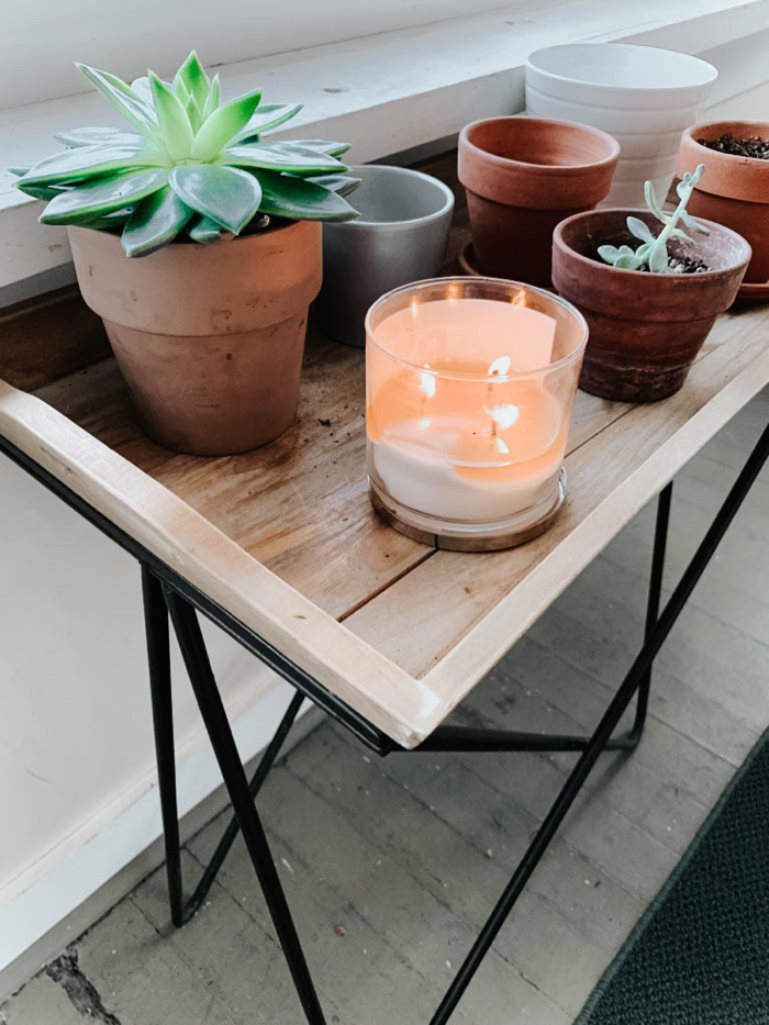 Sunroom refresh inspiration + plantstand & succulents
