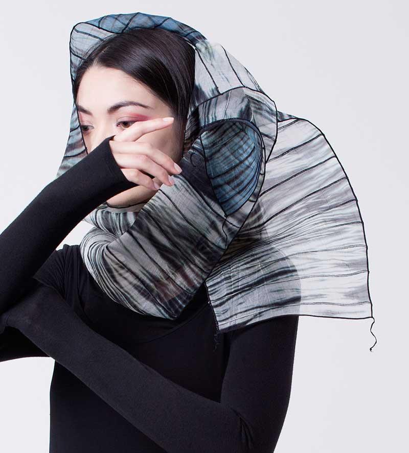 Amy Nguyen Textiles - Shibui - Waterfall Scarf