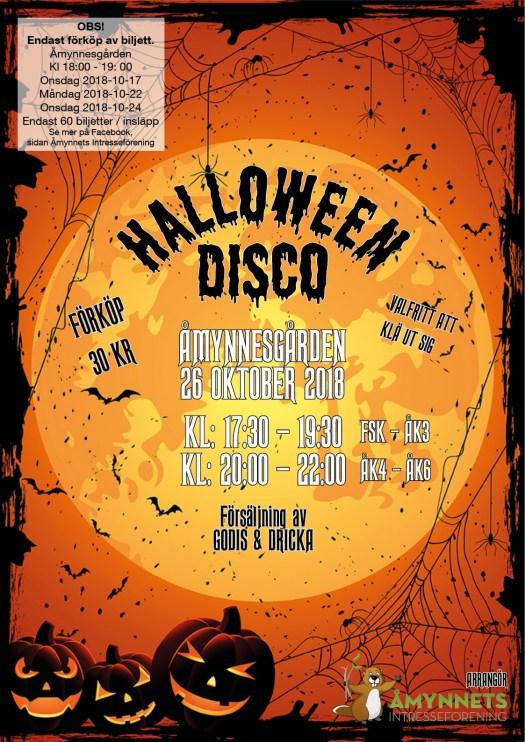 Inbjudan Halloweendisco 2018