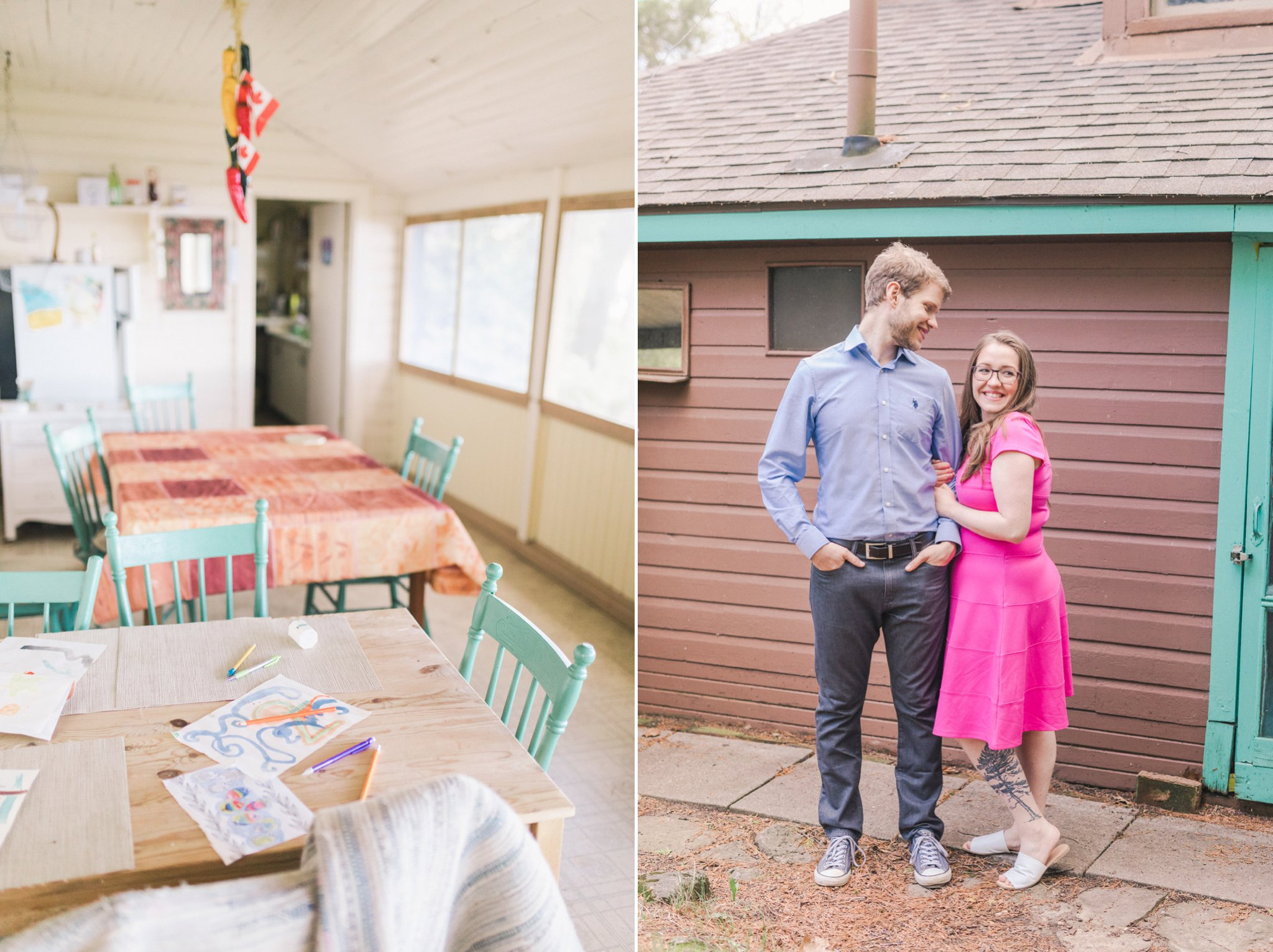 Engagement Session At The Cottage Near Smiths Falls