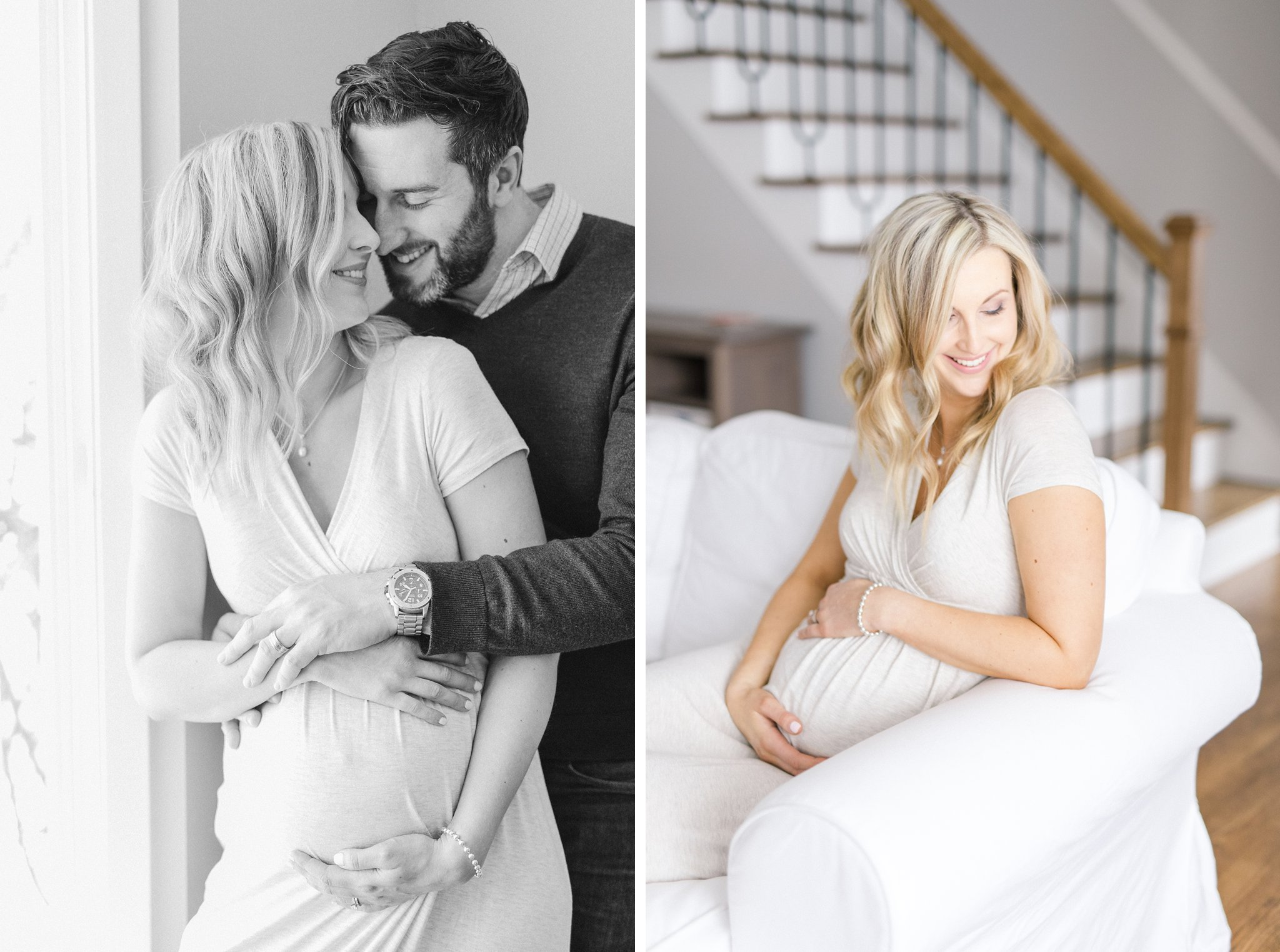 Indoor Lifestyle Maternity Photos in Ottawa  Amy Pinder