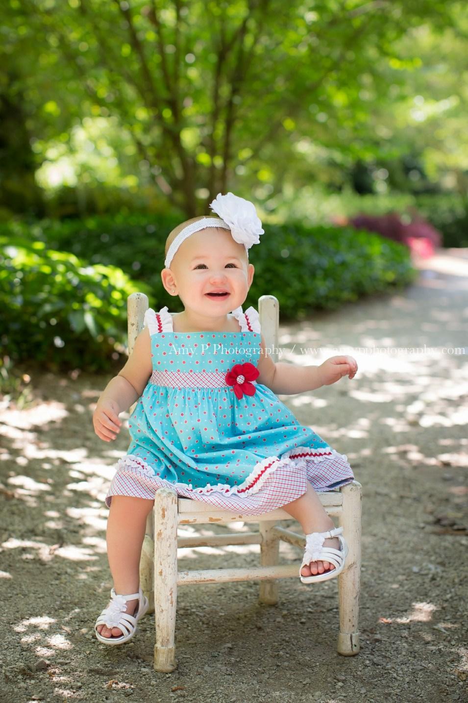 little girl-9 months-gardens-baby girl