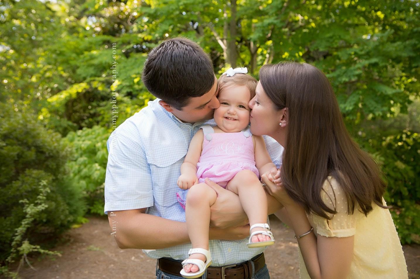 family-6 months-little girl-gardens
