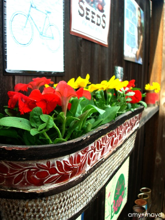 fence flower planter