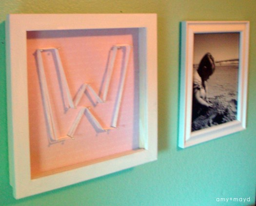 DIY string monogram art