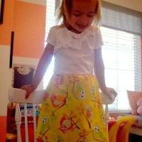 toddler owl dress tutorial