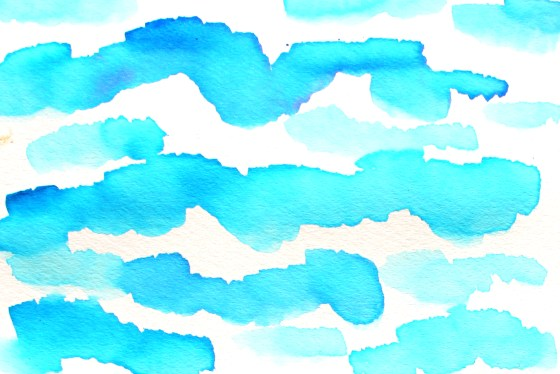 watercolor tutorial painting clouds, a free art lesson for kids, click through to view more lessons