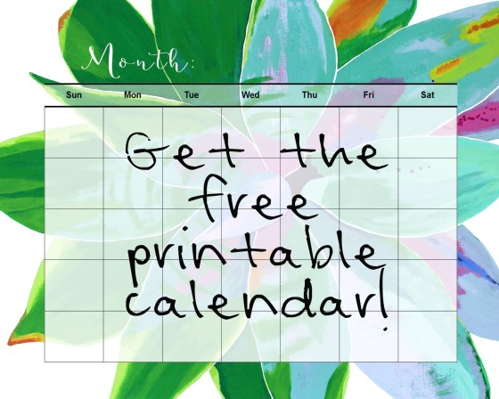 Get your different areas of life together this season with some organizing tips and a free printable calendar at www.amysarttable.com