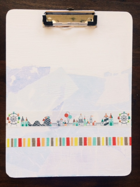 This washi tape diy clipboard was a really simple makeover that turned out super cute. Could definitely be a gift.