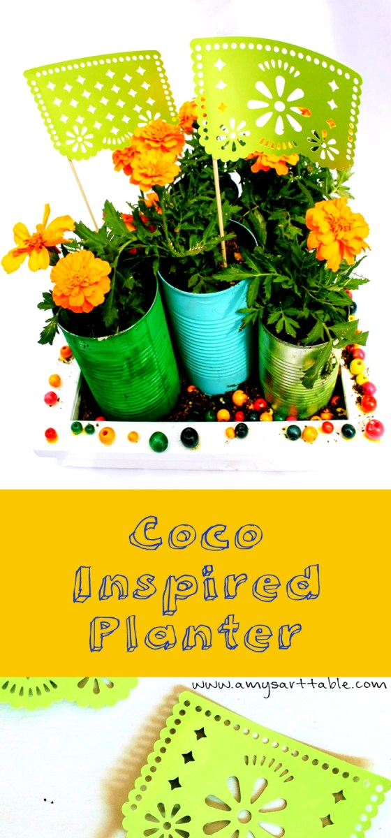 Create a coco inspired planter with our tutorial plus coloring pages