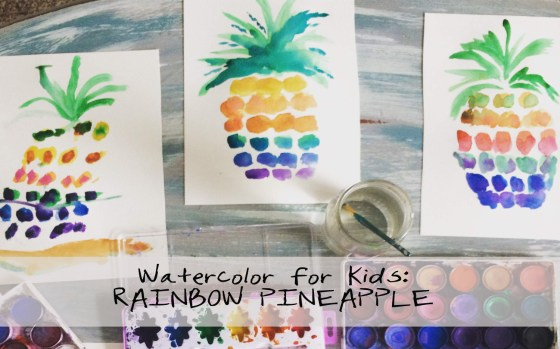 Help kids learn to paint a pineapple with watercolor using our tutorial!