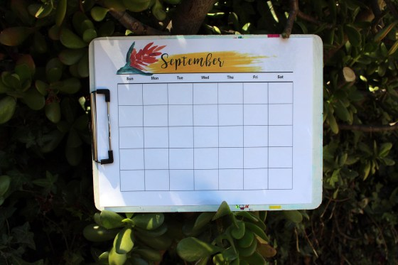 Free printable September calendar to help with Fall organization