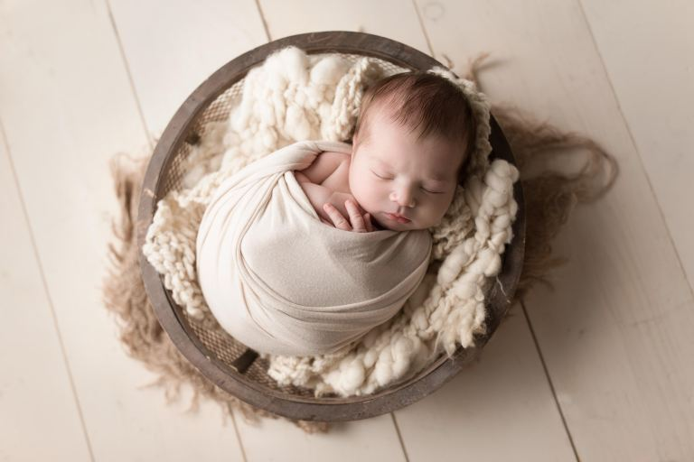 Posed newborn portraits