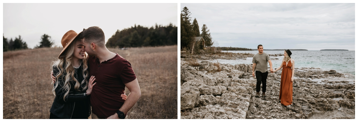 Two engagement photos