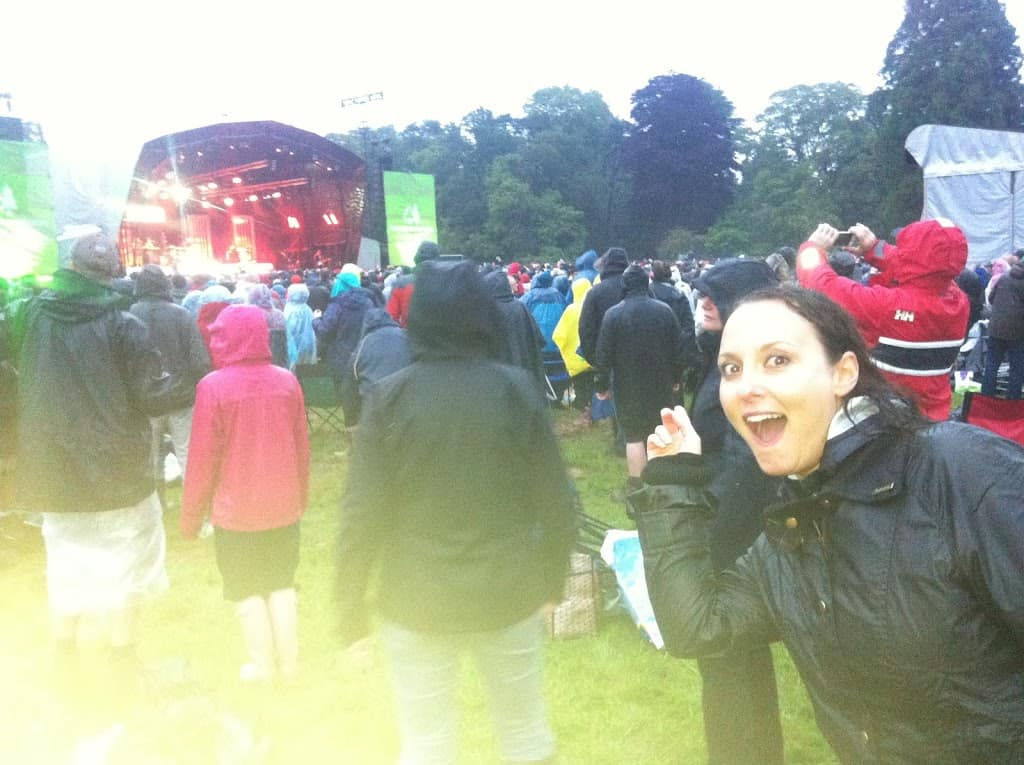 Getting soaked at a Plan B concert