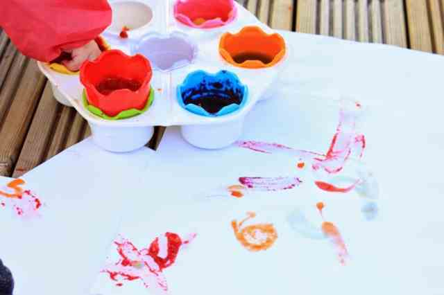 jelly paints and paper