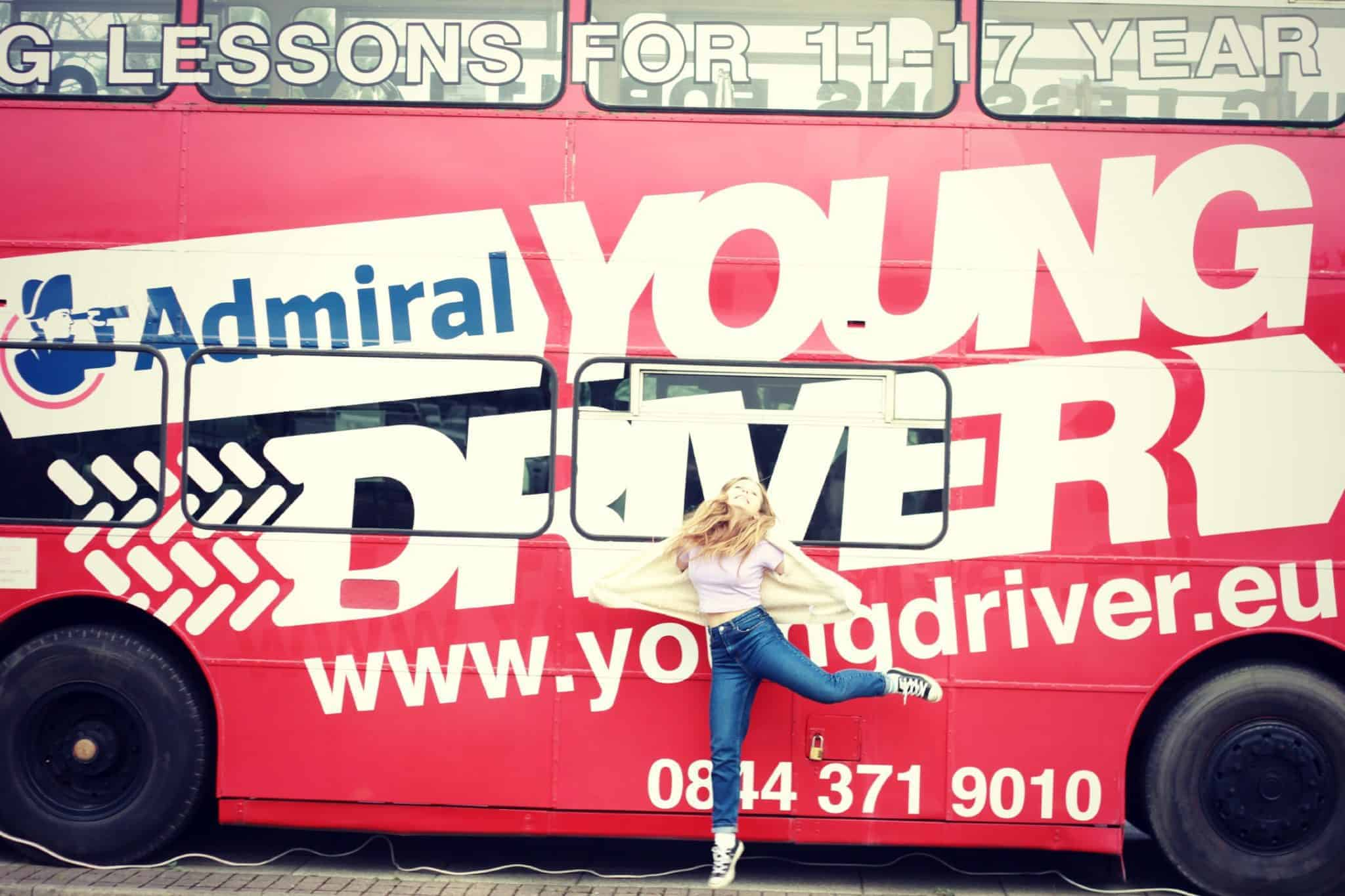 young driver-bus