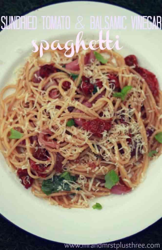 sundried tomato and balsamic vinegar spaghetti