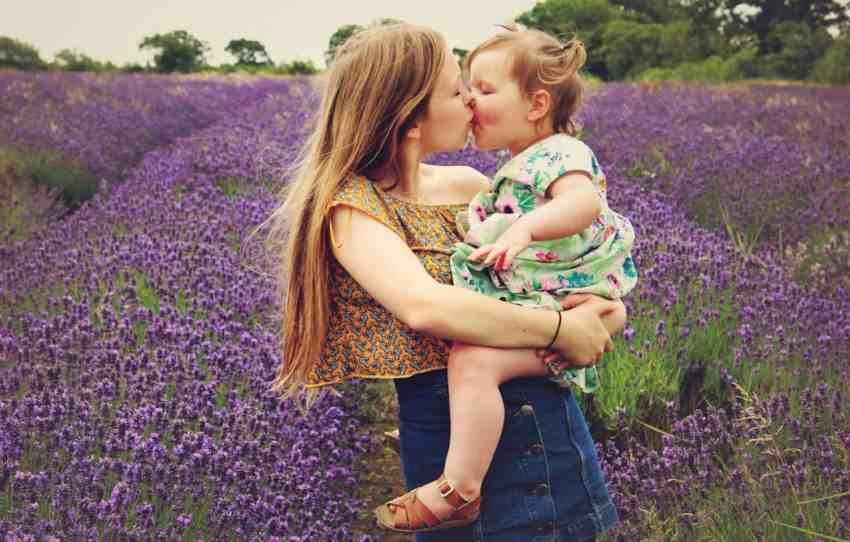 Sisters in lavender