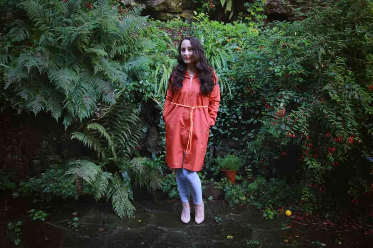 Full length shot of Jungian raincoat