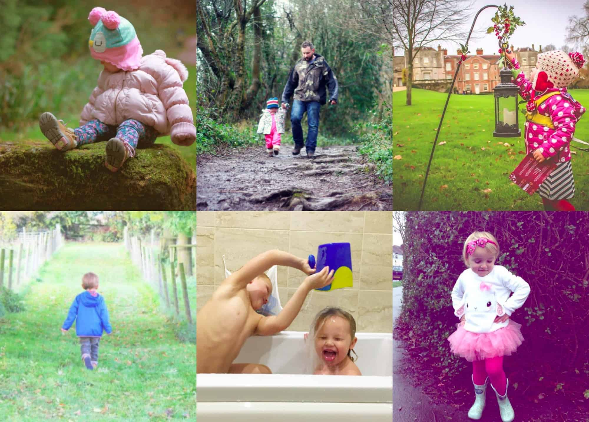 A collection of images from week three of #LittleFierceOnes an Instagram community