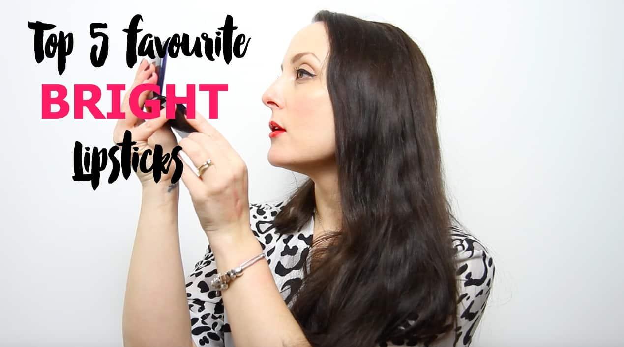 My top 5 bright lipsticks: YSL, Bobbi Brown, MAC and Guerlain. With vlog!