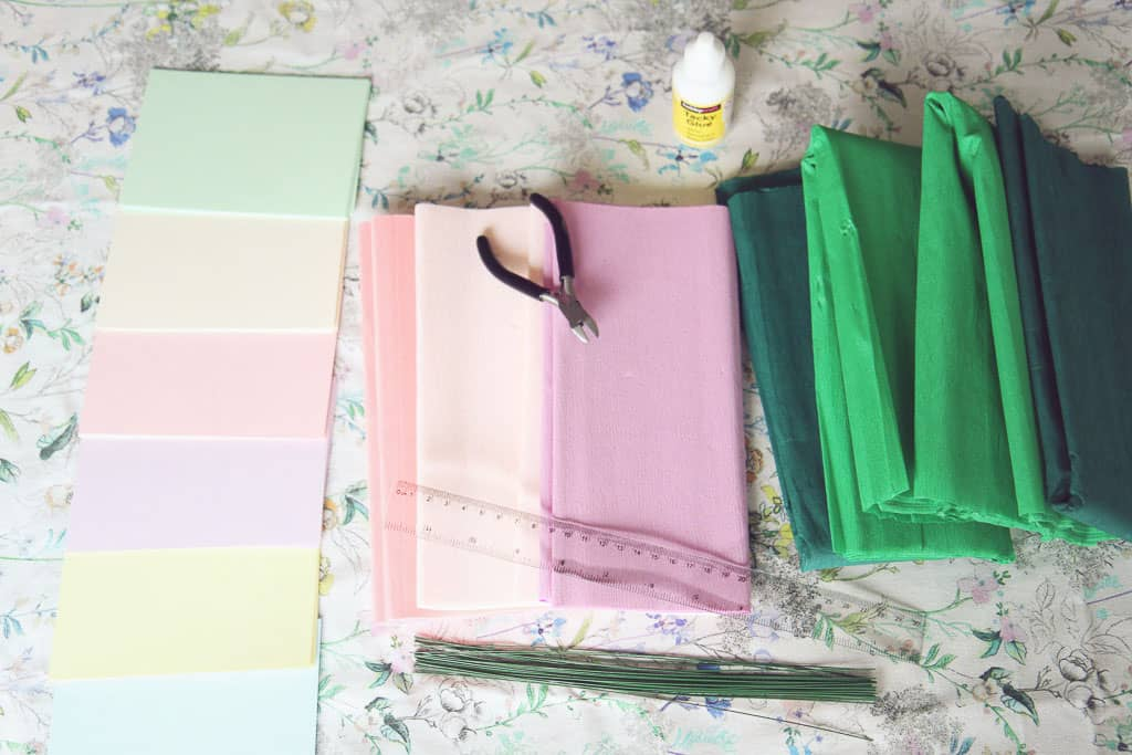 Mother's day make materials for paper hydrangeas